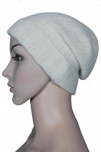 ANGORA-Mütze mit Rippenmuster