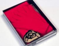 Angora-Schal und Handschuh-Kombination
