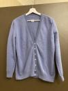 Leichte Jacke in jeansblau mit V-Ausschnitt