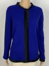 Langarmjacke schwarz eingefasst in royalblau