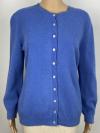Leichte Rundhalsjacke in jeansblau