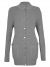 Hochgeschlossene Jacke mit Knöpfen, Stehkragen und Außentaschen