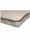 Angora-Matratzenauflage mit Spanngummi