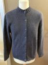 Schwarze Jacke mit Rippenkragen