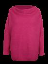 ANGORA-Hochflausch-Pullover mit Wasserfall-Kragen
